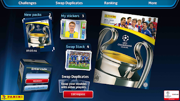 Screenshot of UCL Virtual Sticker Collection