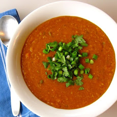 Spiced Coconut-Red Lentil Soup