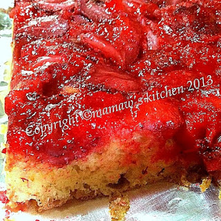 Easy Strawberry Upside Down Cake