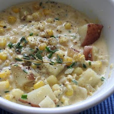 Roasted Sweet Potato Corn Chowder