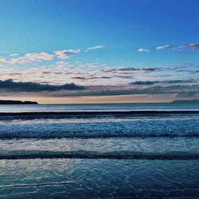 Thurso by Alina Jumabhoy - Instagram & Mobile iPhone ( water, scotland, sunset, thurso, sea, north, landscape, coast )