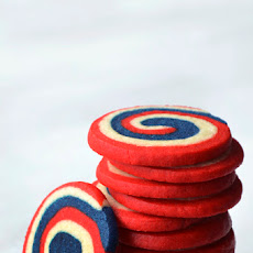 Red, White and Blue Pinwheel Icebox Cookies