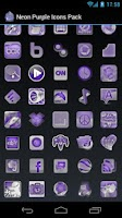 Screenshot of Neon Purple Icons Pack -ADW GO