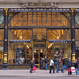 Sephora Broadway by Alan Roseman - City,  Street & Park  Street Scenes ( market, glitz, street, store front, new york city, people, broadway )