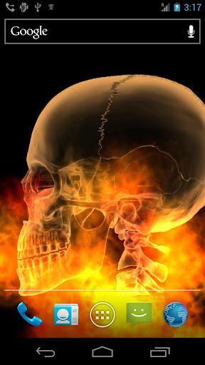 Skull Fire Live Wallpaper