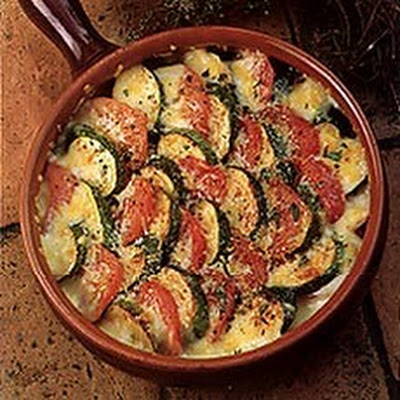 Courgettes and Tomatoes au Gratin