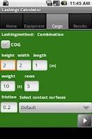 Screenshot of Lashing Calculator