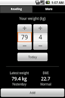 Screenshot of Weight Tracker
