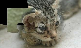 Screenshot of Cats puzzle (jigsaw)