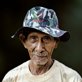 The Old Man by Alfonso Rahardja - People Portraits of Men