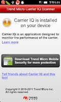 Screenshot of Carrier IQ Scanner