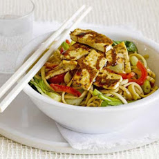 Sesame & Honey Tofu With Rice Noodles