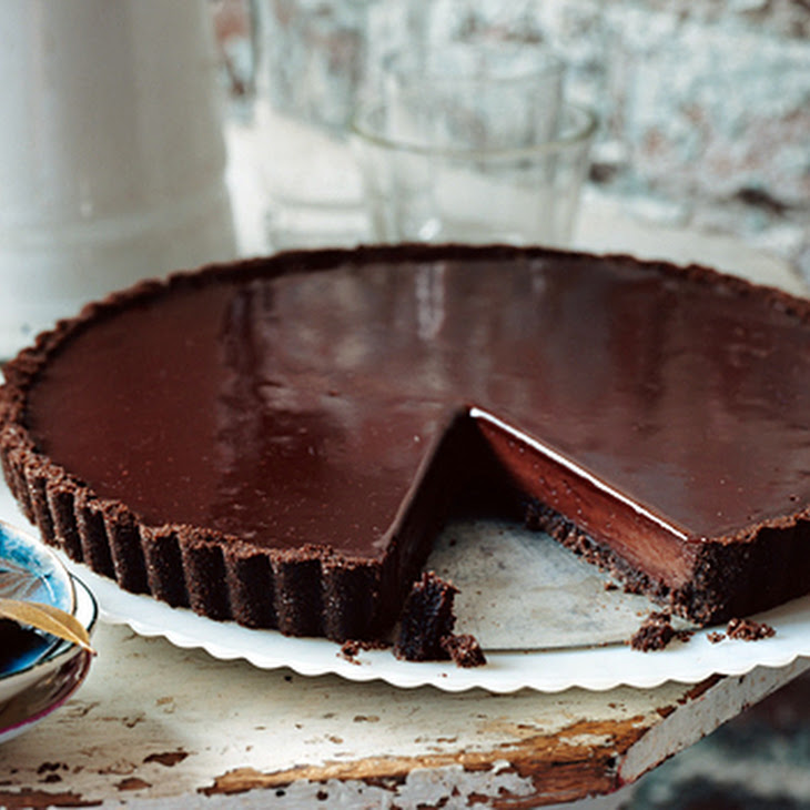 Chocolate Glazed Chocolate Tart
