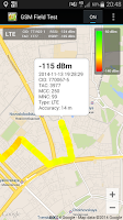 Screenshot of GSM Field Test