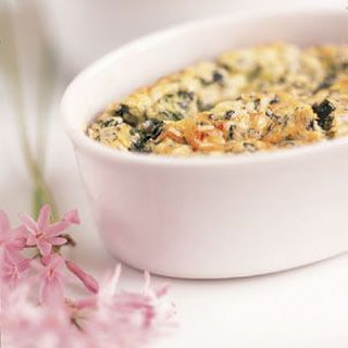 Green Garlic and Spinach Souffle
