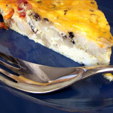 Cauliflower and Sun-Dried Tomato Pie / Quiche