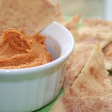Peanut Butter Pumpkin Dip With Cinnamon Chips