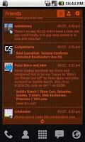 Screenshot of Red Vector Theme/Skin