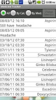Screenshot of Medicine Tracker