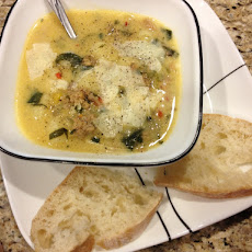 Spicy Sausage, Gnocchi and Spinach Soup