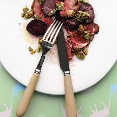 Roast Venison, Roast Beetroot Salad And Bagnèt
