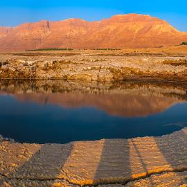 Sinkhole in the dead sea by Tzvika Stein - Landscapes Deserts ( water, desert, sinkhole, dead sea, pond )