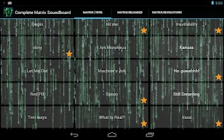 Screenshot of Complete Matrix Soundboard