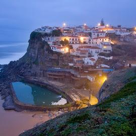 Azenhas do Mar by Artur Carvalho - Landscapes Beaches ( waterscape, seascapes, villages, landscapes, travel photography )