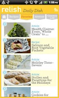 Screenshot of Relish Daily Dish Recipes