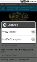 Screenshot of World Of Warcraft Blog Reader