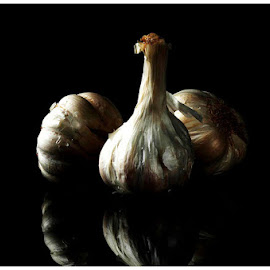 Garlic by Arunava Bhattacharya - Food & Drink Fruits & Vegetables ( garlic, food, white, vegetables, close up,  )