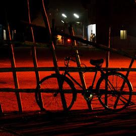 Light & Shadow by Emon  Jaman - Transportation Bicycles ( transport, shadow, night, transportation, light,  )