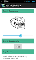Screenshot of Troll Face Smiley for WhatsApp
