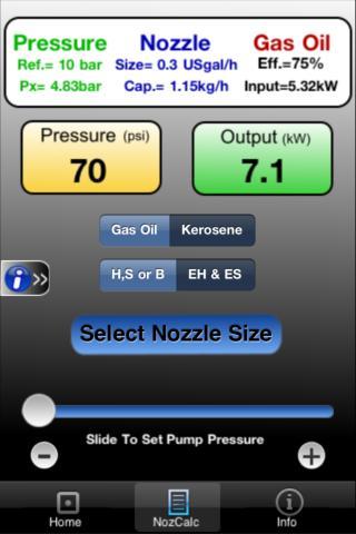 Oil Nozzle Output Calculator