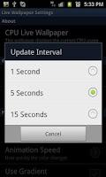 Screenshot of CPU Usage Live Wallpaper FREE