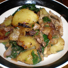Warm Potato and Mushroom Salad
