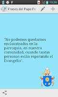 Screenshot of Frases del Papa Francisco