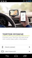 Screenshot of TomTom MyDrive for TomTom GO