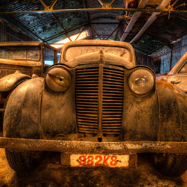Twinkle Twinkle by Markus Gebauer - Transportation Automobiles ( car, urbanexploration, lost, maison, corridor, rusty, abandones, house, forgotten, exploration, explorer, villa, rare, ruins, urbexery, place, decayed, creepy, vintage, abandone, dream, spooky, places, ruine, lostplace, urban, urbex, floor, staircase, oldtimer, chateau, step, abandoned, decay,  )