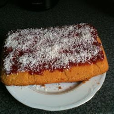 Jam And Coconut Sponge Cake