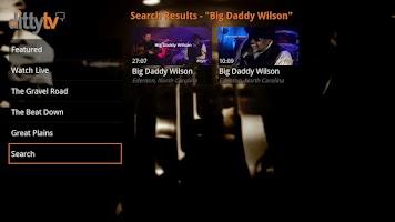 Screenshot of DittyTV for Google TV