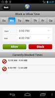Screenshot of Android Parental Control App