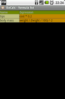 Screenshot of DaCalc