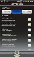 Screenshot of FFL Finder