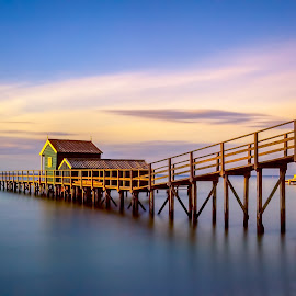 End of the Jetty by Aaron Stott - Landscapes Waterscapes (  )