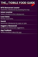 Screenshot of The Mobile Food Guide