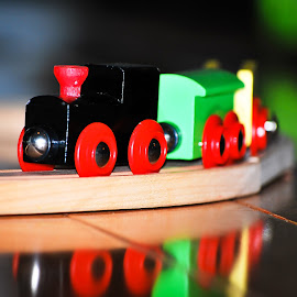 by David Kreutzer - Artistic Objects Toys ( wooden, toy, train )
