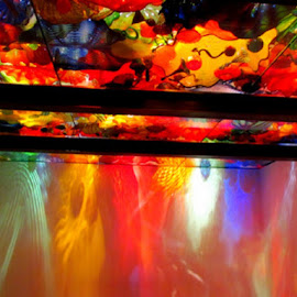Chihuly Exhibit - Seattle by Terry Moffatt - Artistic Objects Glass ( reflection, chihuly, colors, glass, chihuly glass )