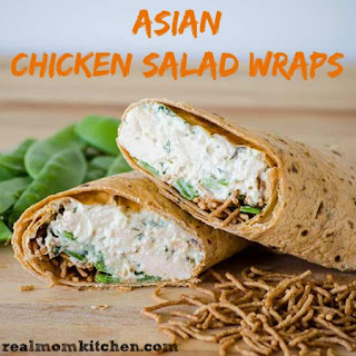 Easy Asian Chicken Salad Wraps