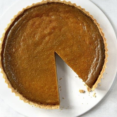 Classic Pumpkin Pie With Pecan & Maple Cream